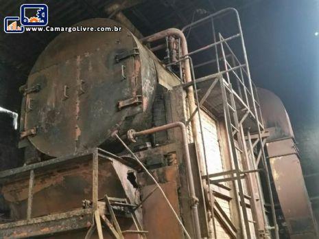 Gerador de vapor horizontal / caldeira á lenha / madeira