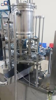 Envasadora rotativa para copo e tampa alumínio Mirainox
