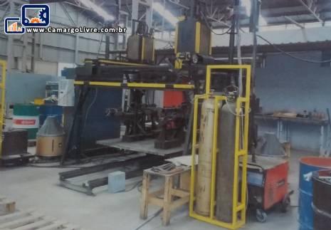 Linha para fabricação perfil metalicos