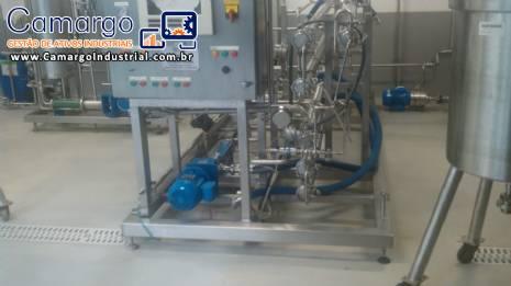 Pasteurizador tubular em inox 400 L Willis
