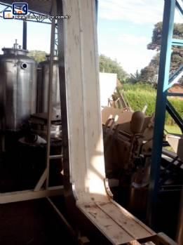 Esteira transportadora alimentadora em aço inox