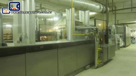 Linha industrial continua para fabricação de wafer