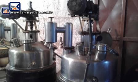 Reator de pressão buller aço inox para 300 kg