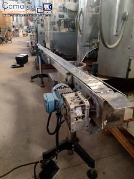 Esteira transportadora 2,8 m em inox