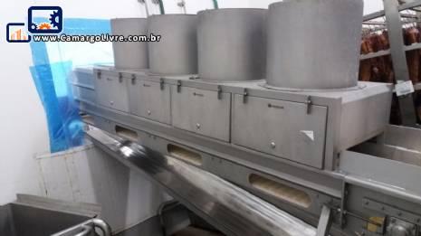 Linha para produção de até 12 toneladas de salsicha por dia